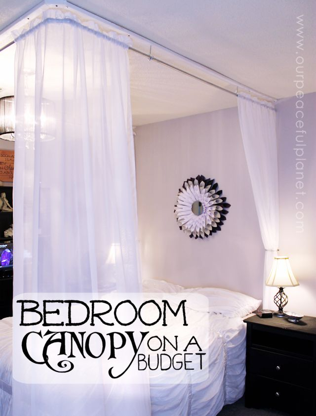 Make An Inexpensive DIY Bed Canopy