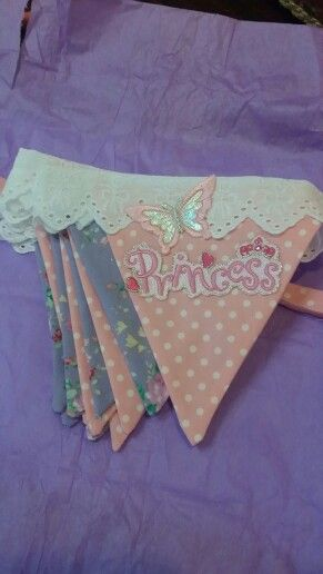 Princess Bunting for a special little girl x