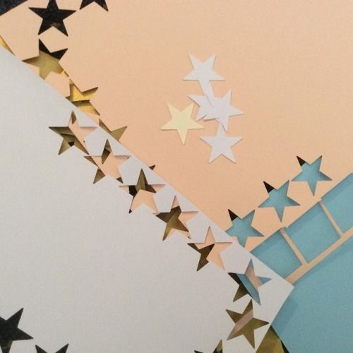 ⭐️⭐️⭐️⭐️⭐️ . Our new star cupcake toppers - a work in progress!  Party decor by Paper Street Dolls.