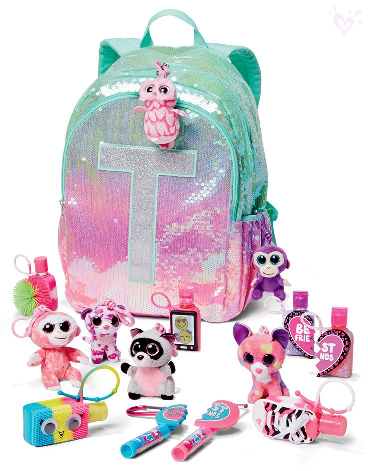 Cuddly critters, anti-bac hand sanitizers and BFF lip balms to clip to your glitter-coated backpack!
