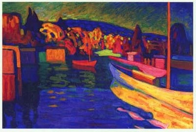 Wassily Kandinsky (1866 – 1944)  It's all good, but I particularly like the work just before he went abstract.