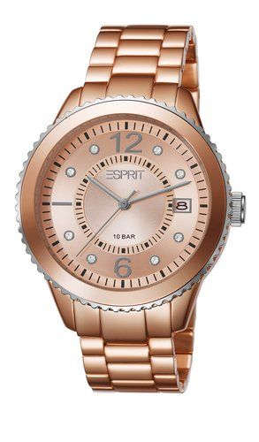 Esprit Marin Women's Quartz Watch with Rose Gold Dial Analogue Display and Rose Gold Bracelet ES105812006