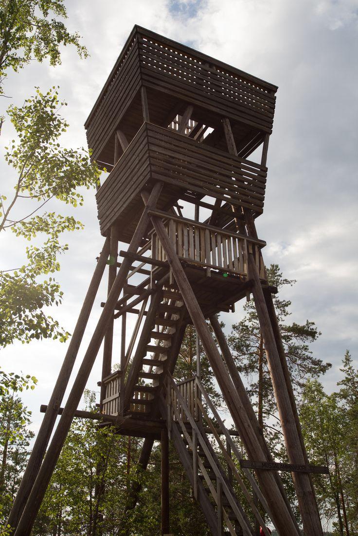 Observation tower Mustavuori - Repovesi National Park Finland
