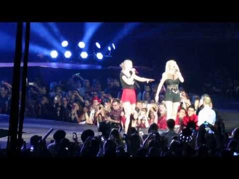 Taylor Swift & Ellie Goulding LIVE Burn O2 Arena London 11/02/2014 RED TOUR