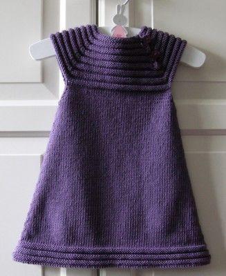 Billedresultat for enkel strikket kjole baby