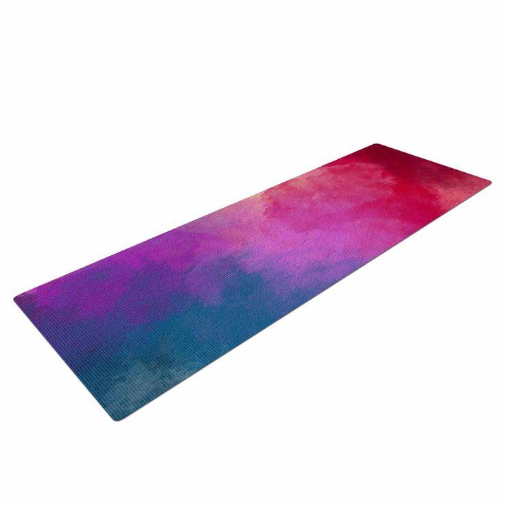 """Viviana Gonzalez """"ABSTRACT 01"""" Pink Blue Yoga Mat from KESS InHouse"""