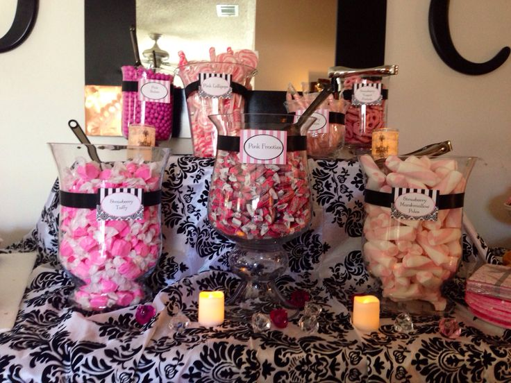 Candy Buffet Paris Themed Bridal Shower Pinterest