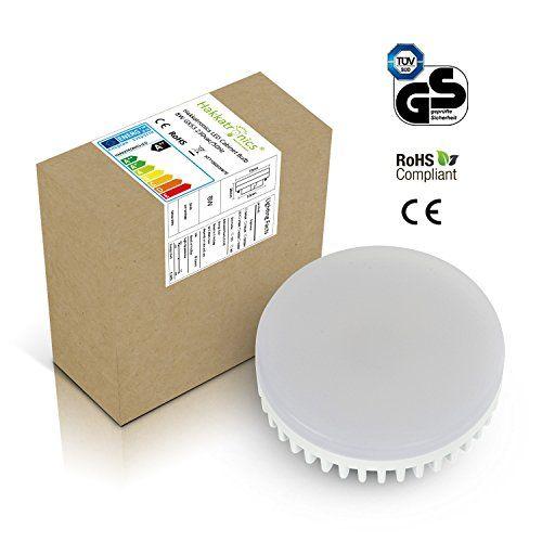 Hakkatronics GX53 Ampoule LED 8W Blanc Friod 6000K 230V: Spot et pas de rayonnement UV Basse consommation et super brillant Couleur de la…