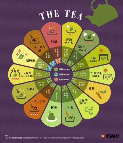 Infographic of tea (Japanese Ver). 紅茶~玉露まで、お茶の製法をまとめたインフォグラフィック | みんなのごはん