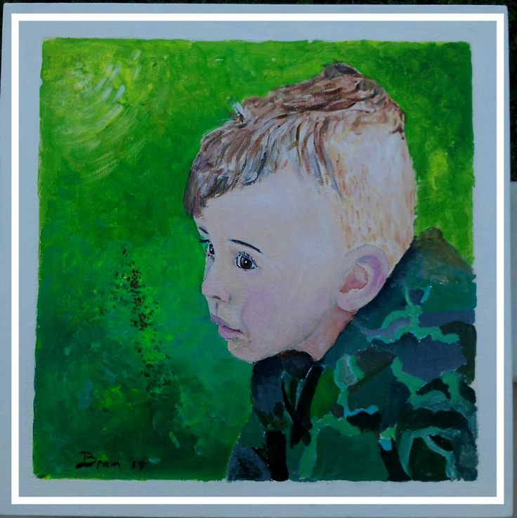 Portret - acryl op doek