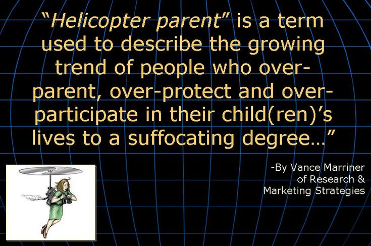 What percentage of helicopter parents would ever admit to being ...