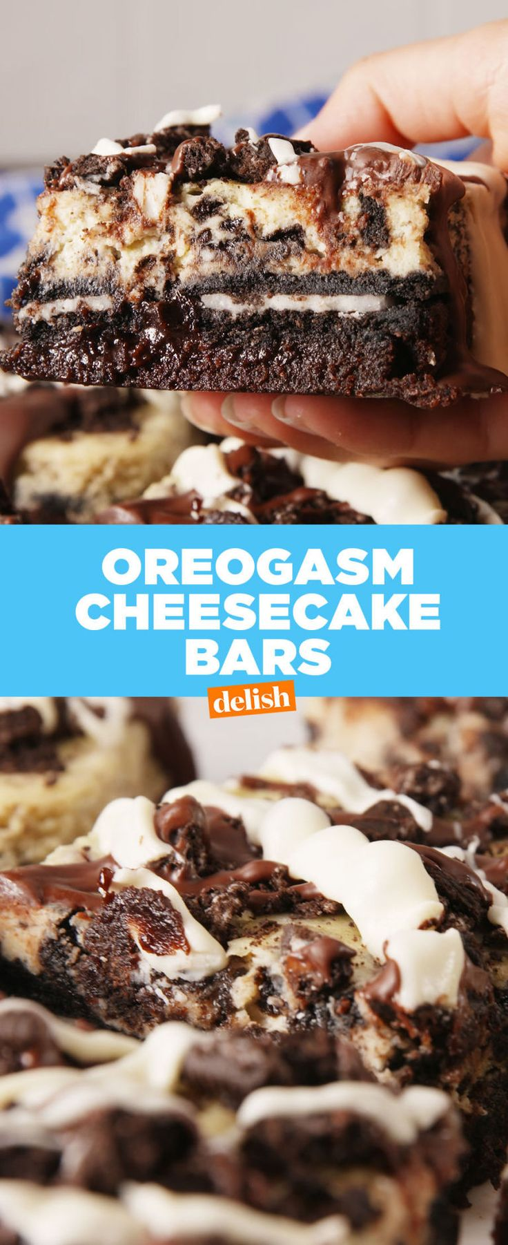 Oreogasm Cheesecake Bars