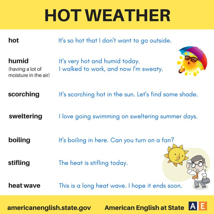 words to describe the weather
