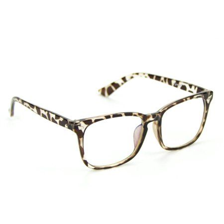 47ee00666 Cyxus Womens Blue Light Blocking Computer Glasses for Anti Eye Strain  UV400, Transparent Lens and Leopard Print Frame, Multicolor