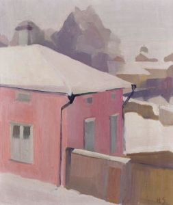 A View of a Yard in Tammisaari - Helene Schjerfbeck - The Athenaeum