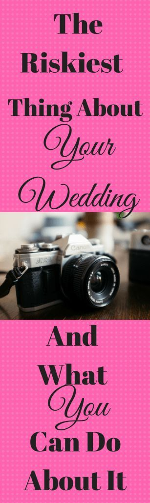 Wedding videographers and photographers are the riskiest wedding vendor your will hire.  Here is why you should consider wedding photography or videography insurance.{And, no I'm not selling wedding insurance. I just think you all should know this.}  The good news is that it's pretty cheap.  How cheap? Keep reading…