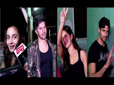 WATCH #Aliabhatt, #Varundhawan, #Katrinakaif & #Sidharthmalhotra spotted at Ganesh Acharya's Dance Academy. See the full video at : https://youtu.be/PMIvEx_s1ew #bollywoodnewsvilla
