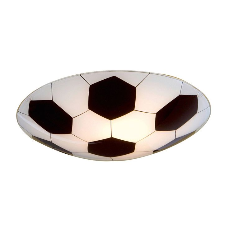 The Junior Football Flush is the perfect light fitting for a football themed bedroom.