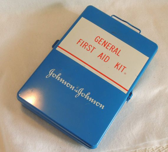 Vintage Johnson & Johnson General First Aid Kit by cottagetocastle