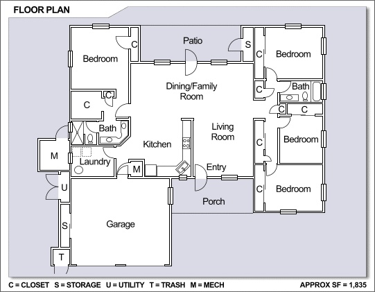 Nb guam apra view neighborhood 4 bedroom single family home floor plan nb guam and - Best house plans for a family of four ...