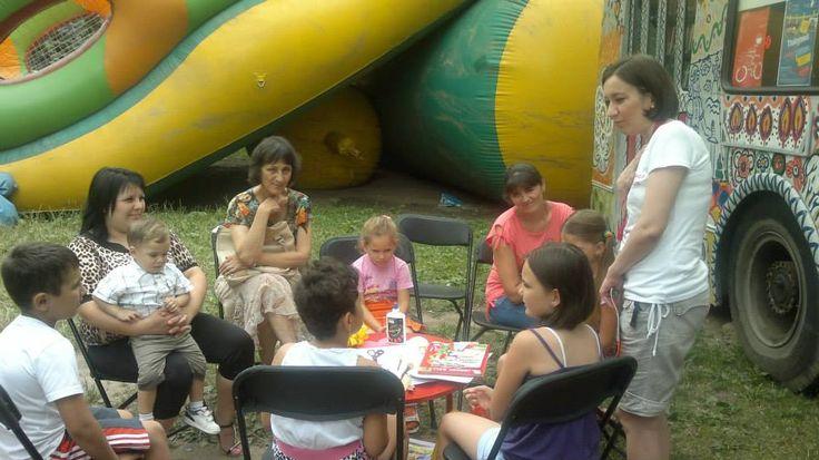 """La Ora de lectură """"Pâine cu rouă"""" de Grigore Vieru copii au vorbit despre calitățile pâinii, au citit versuri despre pâine, ghicitori, maxime, citate din operele marilor scriitori, au rezolvat integrame, alcătuite de Ion Borș în baza acestei povestiri. - cu Biblioteca Ovidius"""