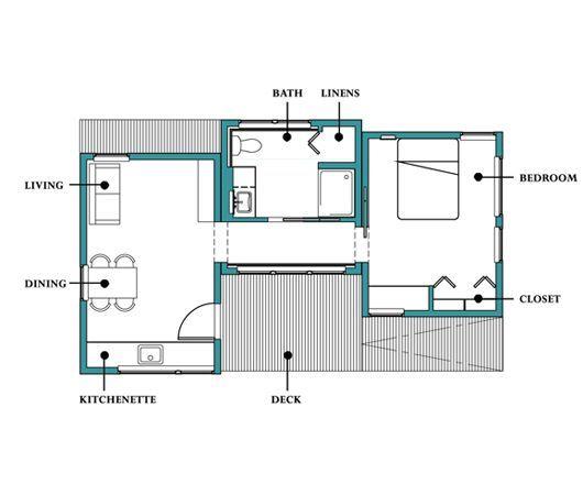 Plano de casa peque a 50 metros cuadrados ideas para el - Bano 3 metros cuadrados ...