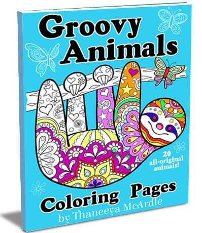 Groovy Animals Coloring Pages 20 Detailed To Color
