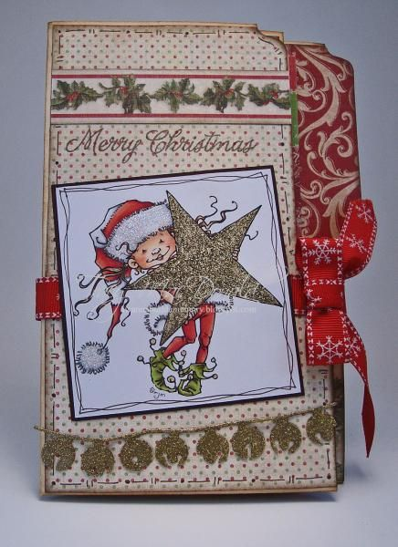 "** Christmas Mini Album ""Elf"" File Folder by TracyMac  @Splitcoaststampers"