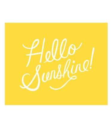 Hello Sunshine Art Print // Verdi Blu