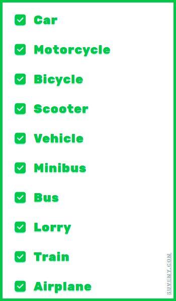 英語の交通手段、トップ10 - 英語のボキャブラリー. Transportation modes in English and Japanese