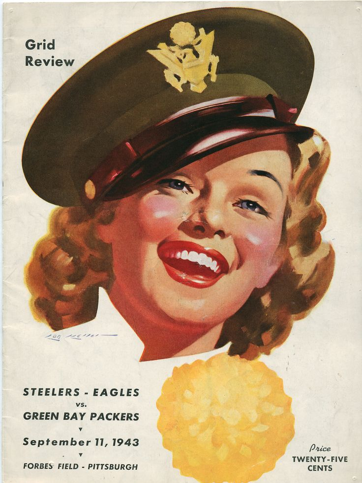 Steelers - Eagles (Steagles) vs. Green Bay Packers.  September 11, 1943 Forbes Field, Pittsburgh
