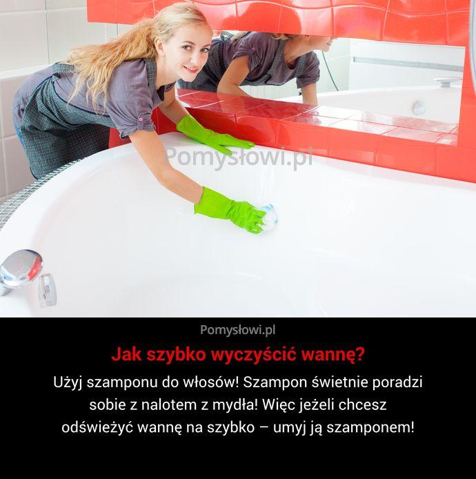 Użyj szamponu do włosów! Szampon świetnie poradzi sobie z nalotem z mydła! Więc jeżeli chcesz odświeżyć wannę na szybko – ...