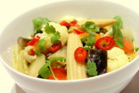 Warzywa w Żółtym Curry - Przepis kulinarny kuchni tajskiej