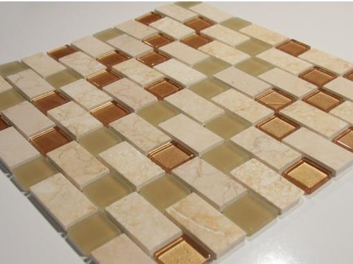 gold beige marble 2x12 ogee polish chair rail molding tiles kitchen bathroom