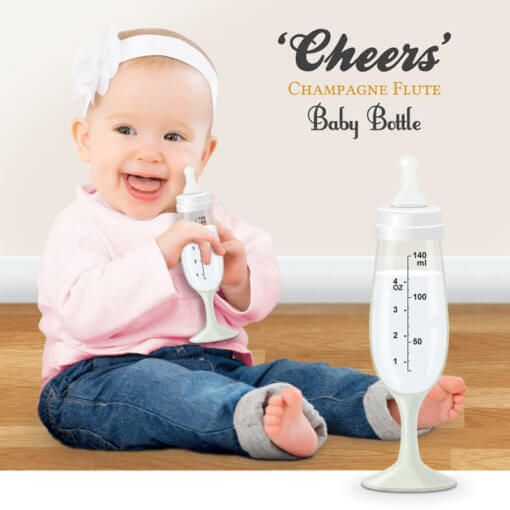 🍼 3 LEFT IN STOCK | Champagne Flute Baby Bottle 🍼   VIEW HERE: https://www.ittybitty.co.uk/product/cheers-champagne-flute-baby-bottle/?utm_content=buffer54f51&utm_medium=social&utm_source=pinterest.com&utm_campaign=buffer #babies #weddings #christmas #parties #cheers #fun