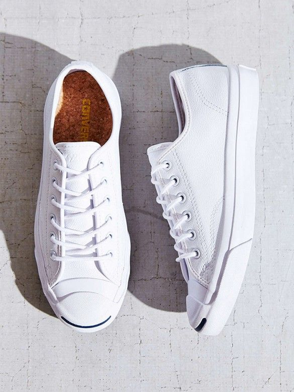Converse Jack Purcell Tumbled Leather Low-Top Sneakers