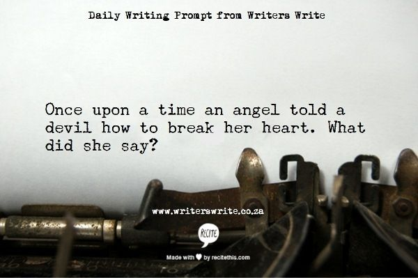 Writing Prompt – An angel and a devil