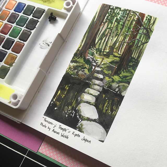 Did a quick study with watercolour, gouache and ink. The video is up at my…