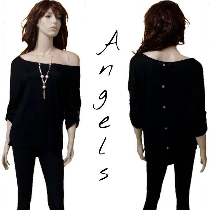 Donna Frau femme Sexy Top manica lunga Maglia Shirt  Blusa Pullover NERO