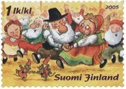 Joulupostimerkki 2005 2/2 - Korvatunturin juhlat