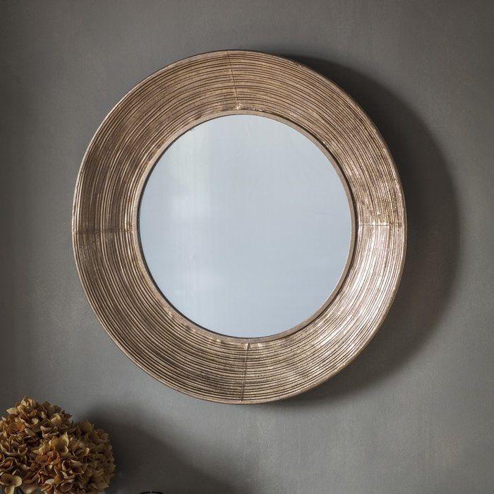 Chai Accent Mirror Copper Wall Mirror Copper Mirror