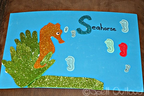 Handprints and Seahorse craft