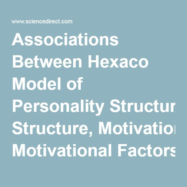 Associations Between Hexaco Model of Personality Structure, Motivational Factors and Self-reported Creativity Among Architecture Students