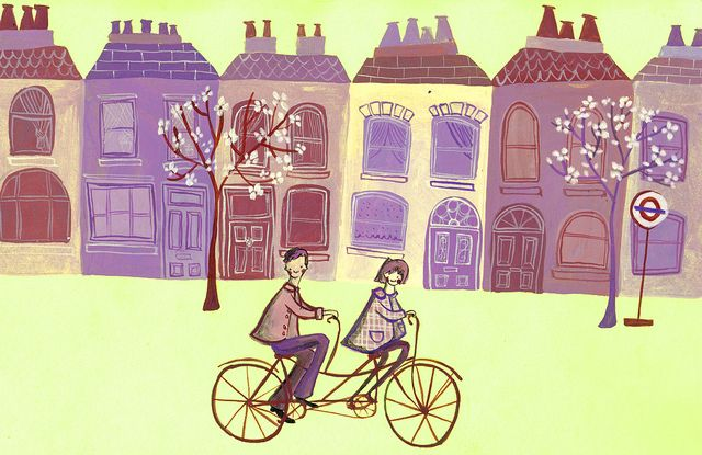 https://flic.kr/p/83BbDf | cycle london 1 | Illustration for the Cycling in London competition run by TFL and AOI