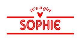 Geboortesticker type Sophie