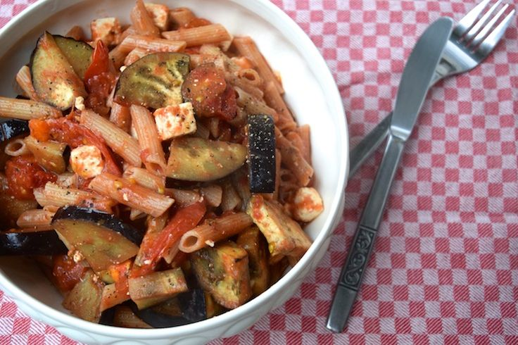 5 or less: Pasta met aubergine