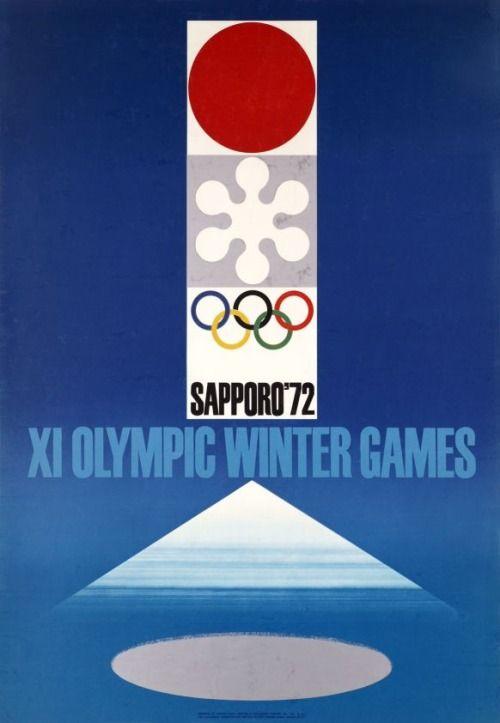 Japanese Poster:Sapporo 72 WinterOlympicGames. Takashi Kono. 1972