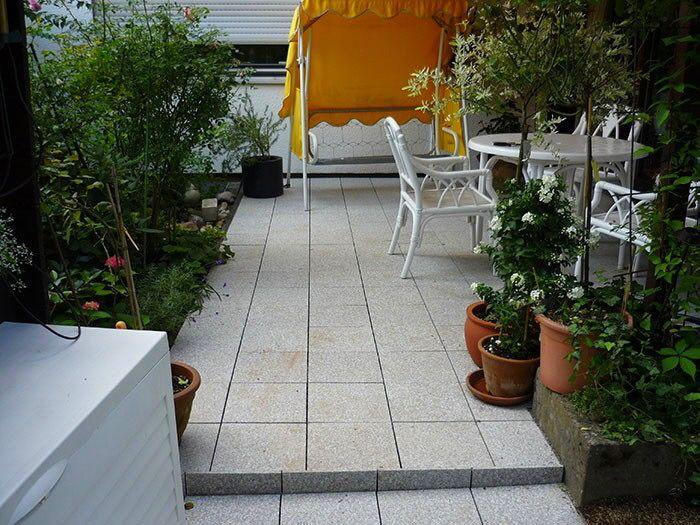 Klick Fliesen Terrasse Granit Verlegen: Fliesen naturstein terrasse ...