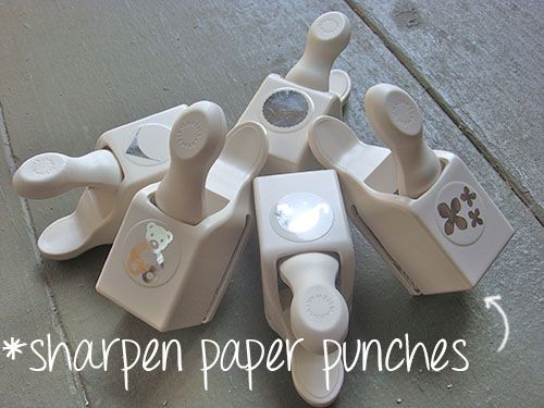 DIY TIP~ HOW TO SHARPEN PAPER PUNCHES~ Foil & wax paper!