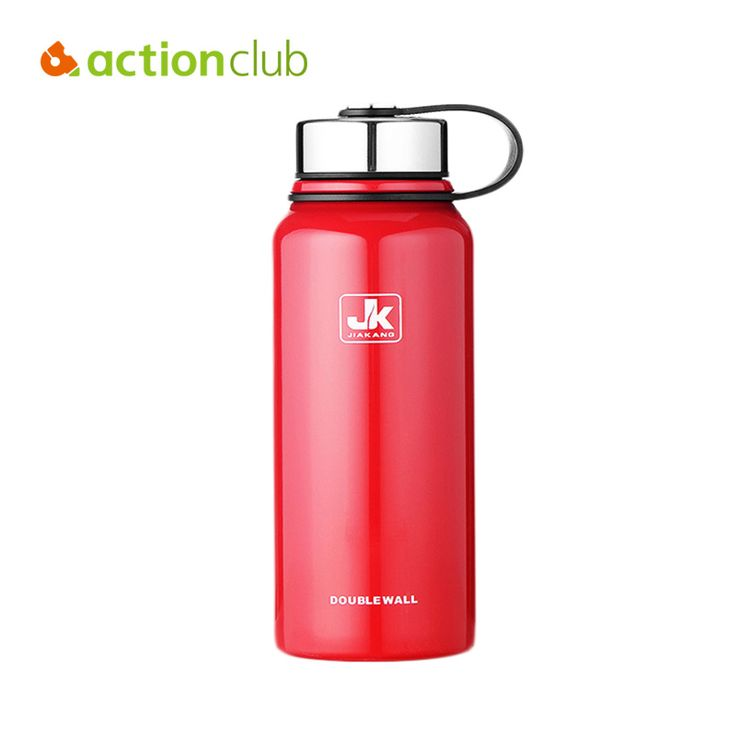 Actionclub Stainless Steel Vacuum Cup Easy Carry Stainless Steel Thermos Cup For Adult Large Capacity Hot Water Drinking Bottle